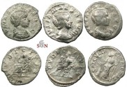 Ancient Coins - Julia Maesa - lot of 3 denarii