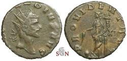 Ancient Coins - Claudius II Gothicus Antoninianus - PROVIDENT AVG / XII - RIC 91