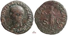 Ancient Coins - Claudius As - LIBERTAS AVGVSTA / SC - RIC 97