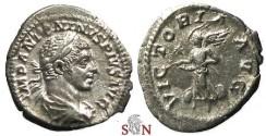Ancient Coins - Elagabalus Denarius - VICTORIA AVG - RIC 161