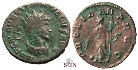 Ancient Coins - Quintillus Antoninianus - PROVIDENT AVG - RIC 28