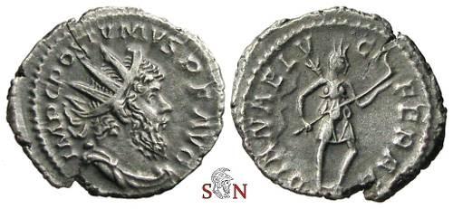 Ancient Coins - Postumus Antoninianus - DIANAE LVCIFERAE - Elmer 396