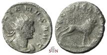 Ancient Coins - Gallienus Antoninianus - LEG VII CL VI P VI F - Bull right - Goebl 1006r