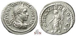Ancient Coins - Elagabalus Denarius - FORTVNAE REDVCI - RIC 83a