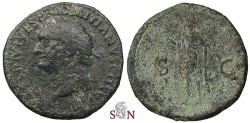 Ancient Coins - Domitianus As - Spes standing left - not listed in RIC with this obv legend