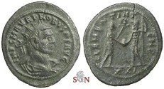 Ancient Coins - Probus Antoninianus - CLEMENTIA TEMP - Tripolis mint - RIC 927