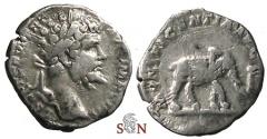 Ancient Coins - Septimius Severus Denarius - MVNIFICENTIA AVG - RIC 100