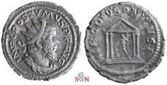 Ancient Coins - Postumus Antoninianus - HERC DEVSONIENSI in Temple - rare - Elmer 31