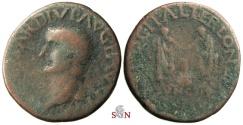 Ancient Coins - Tiberius As - Ilici, Spain - L. Terentius Longus, L. Papirius Avitus IIviri - togate figures standing