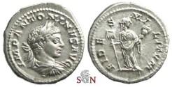 Ancient Coins - Elagabalus Denarius - FIDES MILITVM - RIC 73