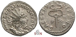 Ancient Coins - Postumus Antoninianus - winged caduceus - Elmer 381