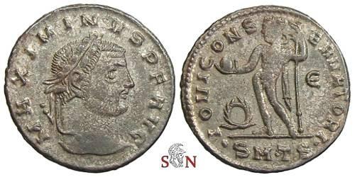 Ancient Coins - Maximinus Daia Follis - IOVI CONSERVATORI - RIC 50a