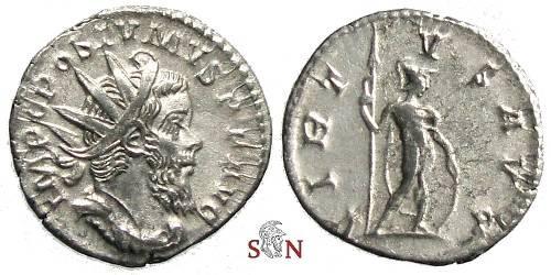 Ancient Coins - Postumus Antoninianus - VIRTVS AVG - Elmer 190