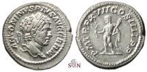 Ancient Coins - Caracalla Denarius - Hercules holding club and branch - RIC 239 - 4,29g (!)