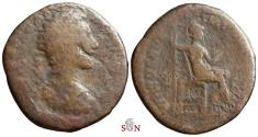 Ancient Coins - Commodus AE Dupondius - VIRTVS AVG IMP IIII COS III P P - RIC 296