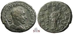 Ancient Coins - Trajanus Decius AE As - LIBERALITAS AVG - RIC 120 a