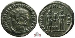 Ancient Coins - Maximianus I. post-reform radiate - CONCORDIA MILITVM - Heraclea mint - RIC 14