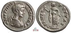 Ancient Coins - Geta Denarius - SPEI PERPETVAE - RIC 96