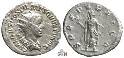 Ancient Coins - Hostilianus Antoninianus - SPES PVBLICA - RIC 184 b