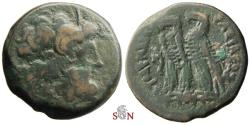 Ancient Coins - Ptolemaic Kingdom, Ptolemy IV Philopator AE drachm - two eagles - SNG Cop 308
