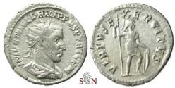 Ancient Coins - Philippus I Arabs Antoninianus - VIRTVS EXERCITVS - RIC 71 - rare