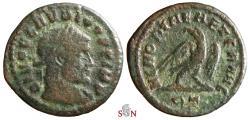 Ancient Coins - Divus Claudius II. Gothicus Half Follis - MEMORIAE AETERNAE / RT - Grohs-Fligely collection 1875-1962