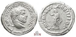 Ancient Coins - Caracalla Denarius - Serapis standing - RIC 208 a