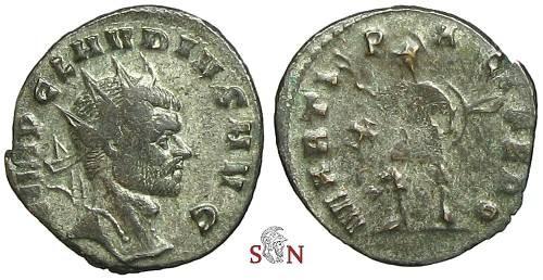 Ancient Coins - Claudius II Gothicus Antoninianus - MARTI PACIFERO  - RIC 72 var. - rare