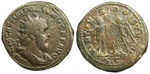 Ancient Coins - Postumus Double Sestertius - VIRTVS POSTVMI - Bastien 22