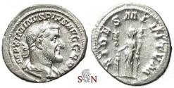 Ancient Coins - Maximinus I Thrax denarius - FIDES MILITVM - RIC 18a