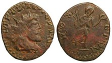 Ancient Coins - Tetricus I Local Imitation - Victory running right - Barbarous Radiate