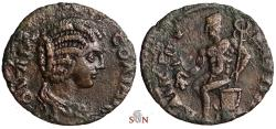 Ancient Coins - Julia Soaemias AE 22 mm - Cibyra, Phrygia - Hermes seated on basket - RPC 5409