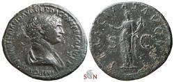 Ancient Coins - Trajanus As - FELICITAS AVGVST - RIC 625
