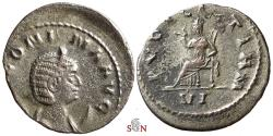 Ancient Coins - Salonina Antoninianus - PVDICITIAM - Goebl 576A dd - Extremely Rare (3 specimens listed)