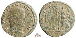 Ancient Coins - Constantinus I. Follis - GLORIA PERPET - Ex Grohs-Fligely Collection 1875-1962