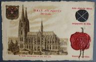 Ancient Coins - Constantinus I. Follis attachend to a Postcard - Ex St. Maria Hoard (Cologne) 1895 - SARMATIA DEVICTA