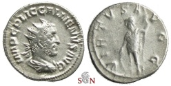 Ancient Coins - Gallienus Antoninianus - VIRTVS AVGG - RIC 181