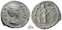 Ancient Coins - Julia Domna denarius - PIETAS AVGG - RIC 572