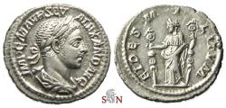 Ancient Coins - Severus Alexander Denarius - FIDES MILITVM - RIC 139