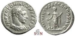 Ancient Coins - Elagabalus Denarius - INVICTVS SACERDOS AVG - RIC 34