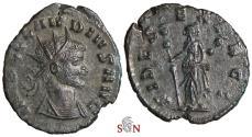 Ancient Coins - Claudius II. Gothicus Antoninianus - FIDES EXERCI - RIC 36