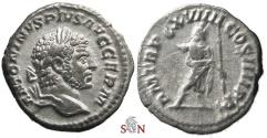 Ancient Coins - Caracalla Denarius - Serapis standing - RIC 280c