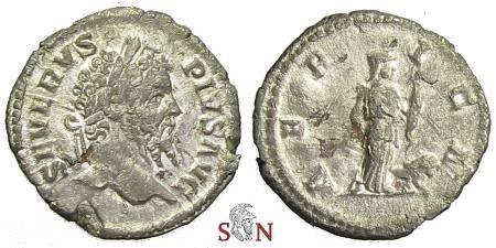 Ancient Coins - Septimius Severus fourrée denarius - AFRICA - RIC 253