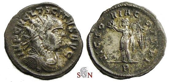 Ancient Coins - Tacitus Antoninianus - VICTORIA GOTTHI - Ticinum mint - RIC 172 - scarce