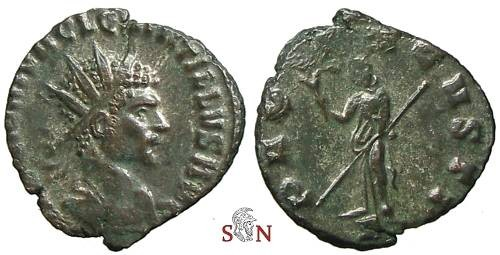 Ancient Coins - Quintillus Antoninianus - PAX AVGVSTI - Very Rare with A in exergue