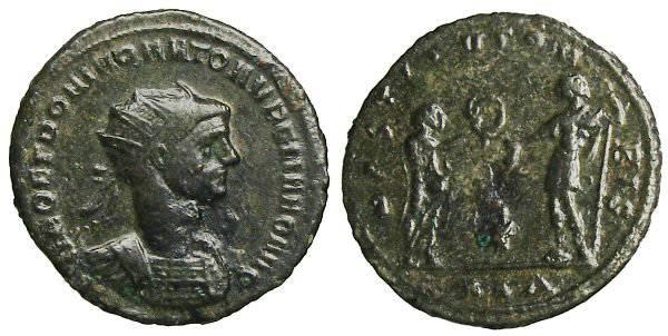 Ancient Coins - Aurelianus Antoninianus - DEO ET DOMINO NATO AVRELIANO AVG - RIC 306