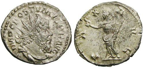 Ancient Coins - Postumus Antoninianus - PAX AVG - Elmer 565