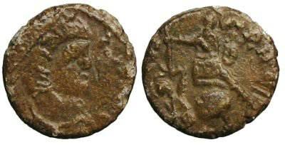 Ancient Coins - Local imitation of an constantine era follis - FEL TEMP REPARATIO type