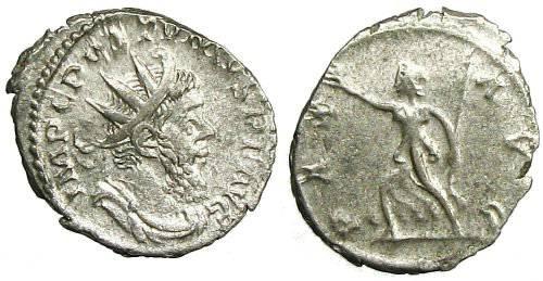 Ancient Coins - Postumus Antoninianus - PAX AVG - Elmer 333