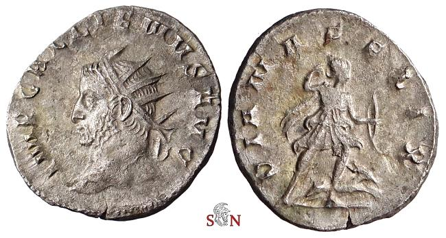 Ancient Coins - Gallienus Antoninianus - DIANA FELIX - rare with left-facing head - Goebl 920 h